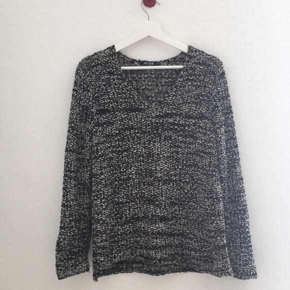 NIC+ZOE Sweaters - NIC+Zoe Knit Ribbon Yarn Sweater Size L